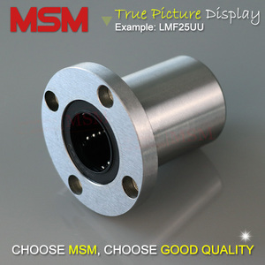 Image 3 - MSM 원형 플랜지 선형 베어링 4 개/몫 LMF6UU LMF8UU LMF10UU LMF12UU LMF16UU LMF20UU LMF25UU LMF30UU 샤프트 볼 부싱 (mm)
