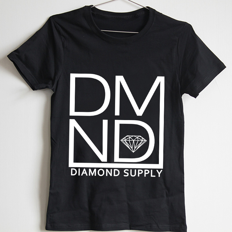 c6f6239d2 2015 Summer Fashion Diamond T Shirts Men Black White Cool Diamond TShirt  Unique Design Short Sleeve Top Pure cotton Cheap Shirts-in T-Shirts from  Men's ...