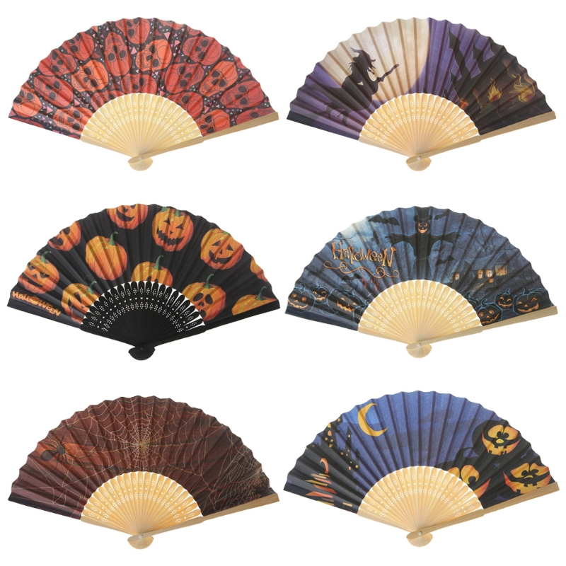 Best Quality Chinese Vintage Hollow Hand Fan Halloween Folding Fans Party Favor