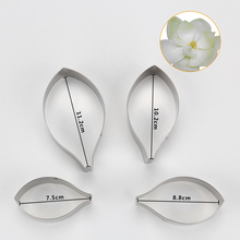 (12sets/lot)Free Shipping High Quality 4pcs Stainless Steel Different Flowers and Leaves Shape Cookie Cutters set