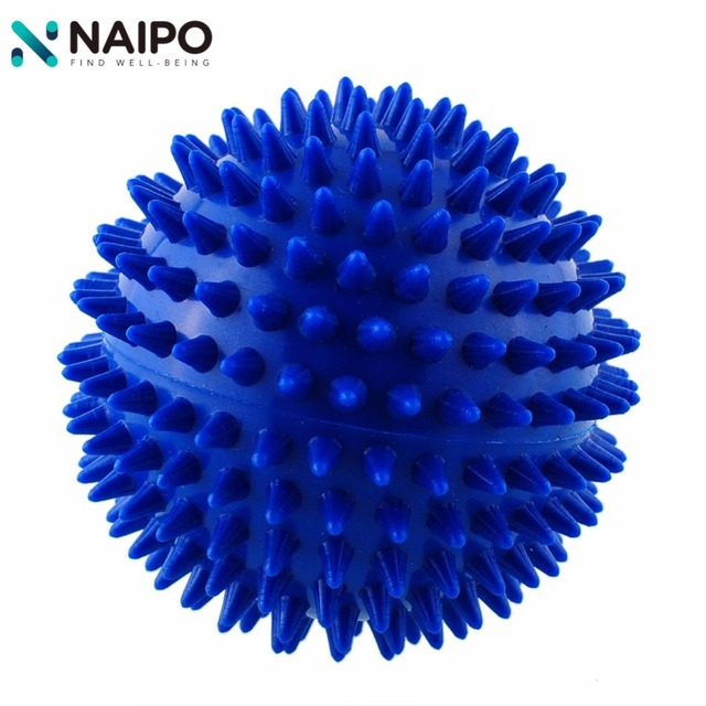 Naipo 9cm PVC Spiky Massage Ball Roller Fitness Hand Foot Muscle Relief Health Care Body Massager Ball Color Random