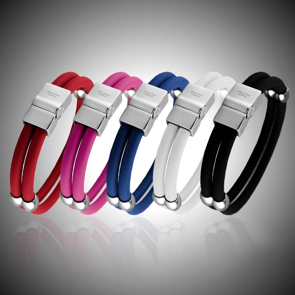 Power Ionics New Healthy Titanium Magnetic Double Style Wristband Bracelet w/Box