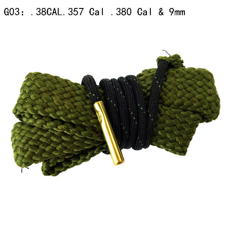 Jacht Geweer Bore Cleaner Snake.22 Cal.223 Cal.38 Cal & 5.56mm, 7.62mm, 12GA Rifle Cleaning Kit Tool Geweerloop Calibre Slang Touw