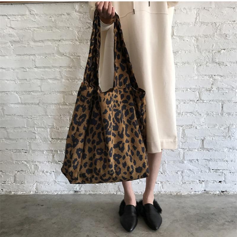 Fashion Leopard Pattern Shoulder Bag Female Big Tote Bag Large Capacity  Women Shopping Bags Animal Print 862503e007cf