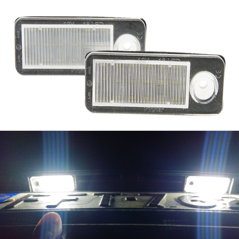 Weiß 2x Auto led rück anzahl kennzeichen licht Für Audi A4 B5 Avant S4 B5 Avant A6 B4 C5 RS6/RS6 Plus A6 S6 B4 C5 Avant RS4