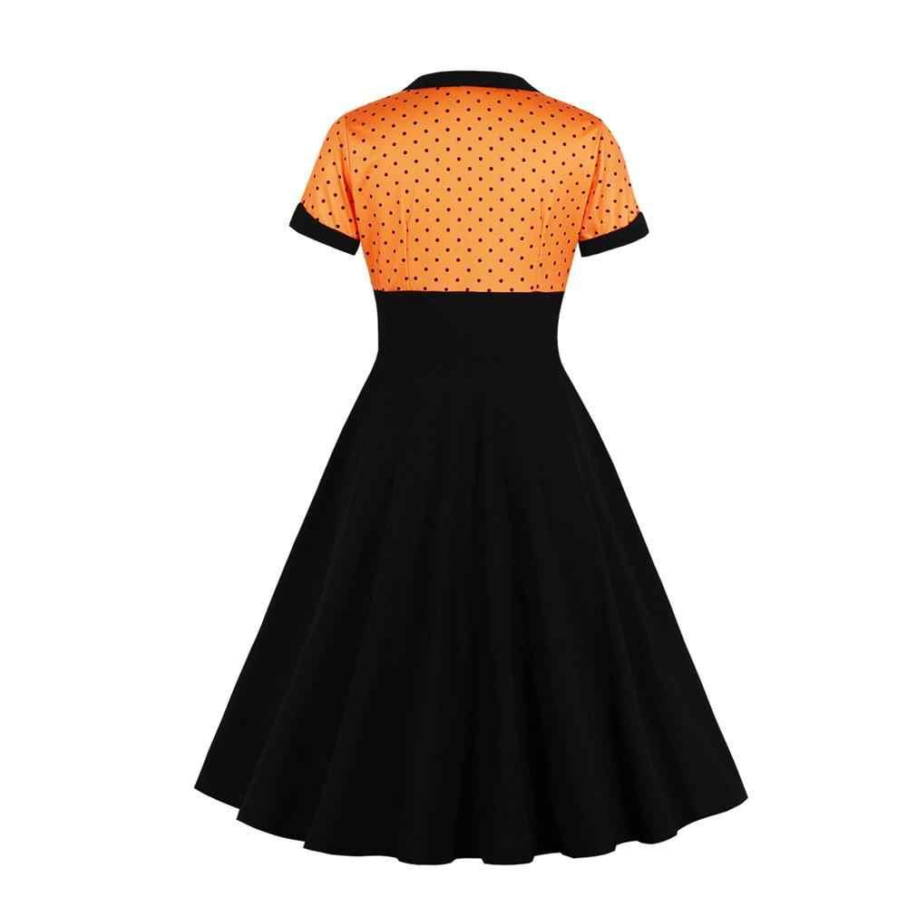 4XL летнее женское платье ретро 1950s 60s Платье женское в горошек Pinup рокабилли сексуальные платья для вечеринок винтажная Туника Vestidos Jurk