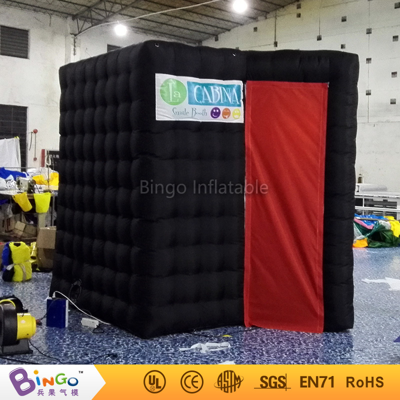 Free shipping LED lighted inflatable photo booth portable photo booth kiosk enclosure with factory price toy tent free shipping oxford material wedding party decoration inflatable the photo booth