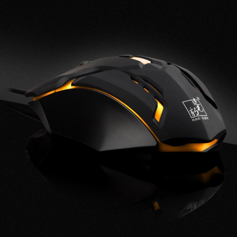 K2 Wired Gaming Mouse Professional 3 Buttons Adjustable 1600DPI USB Cable LED Optical Gamer Mouse For Computer Laptop PC Mice