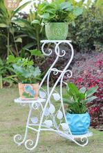 European-style iron art creative multi-layer flower rack, rack balcony living room floor pot