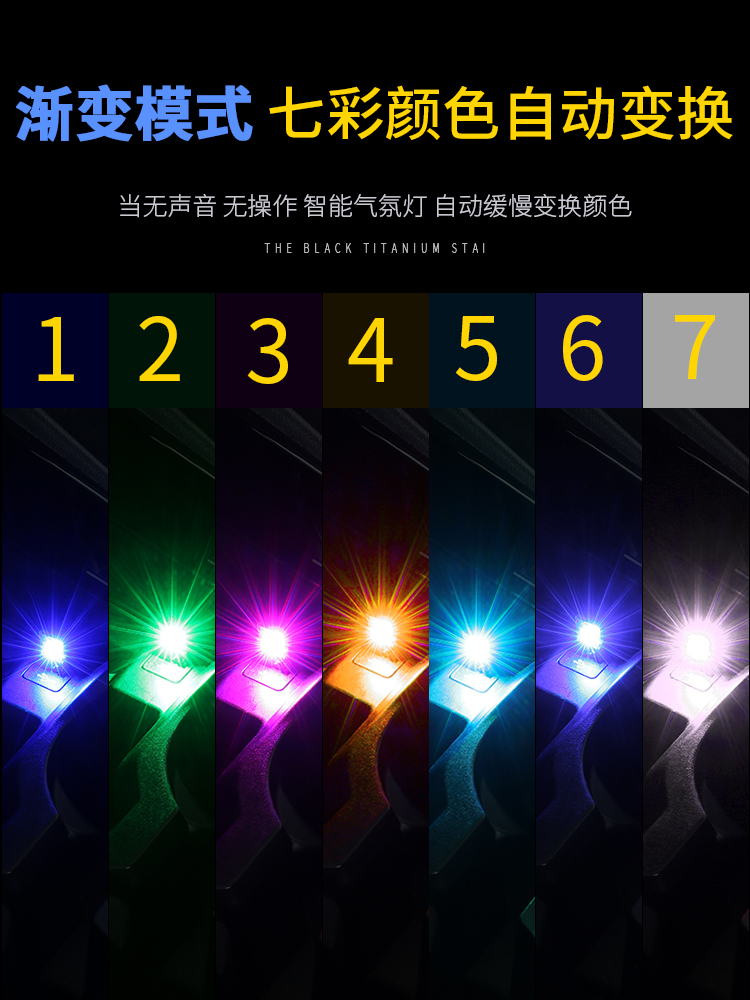 1pcs FORAUTO Touch and Sound Control Car LED Atmosphere Light Auto Decorative Lamp Car Styling RGB Music Rhythm Light USB Socket in Decorative Lamp from Automobiles Motorcycles