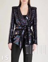 autumn the new colorful sequins coat loose street style fashion party women jackets