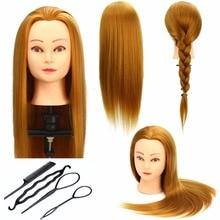 CAMMITEVER guld hår mannequin huvud professionell träning huvud för salong 50cm mannequin huvud med hår
