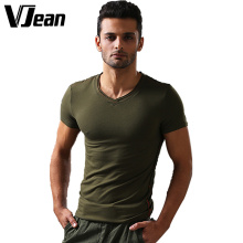 V JEAN Men's Essential Slim-Fit V Neck T Shirt #9A123 Bamboo/Lycra