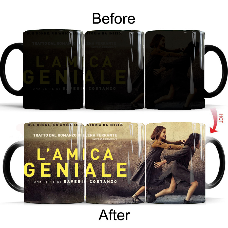 TV show L'amica geniale coffee mugs creative ceramic color changing mug milk tea cup gift mug for yourself or your girl friend