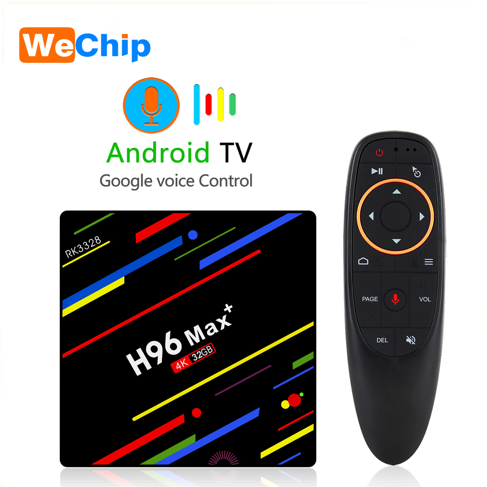 H96 MAX + RK3328 Quad-Core Smart Android 8.1 TV Box OS Android TV 4K HD Google Voice Remote 4G+32G 4G+64G IPTV Youtube Player hd плеер sony nsz gs7 internet player with google tv