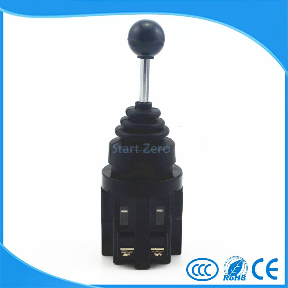 2NO 4 Position Momentary Type Monolever Joystick Switch Cross Button Switches CS-402 la125j 11b 660v 10a momentary type button switches black 10 pcs