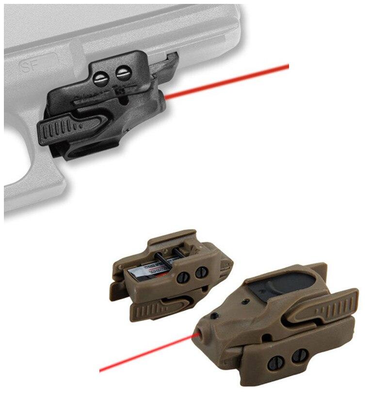 Universelle Polymère Pistolet Fusil Pistolet Accessoires Mini Militaire Tactique Glock Visée Laser Rouge avec Rail pour La Chasse