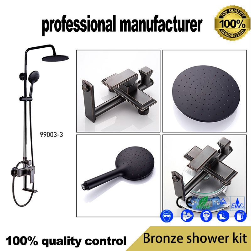 European retro three-speed quick opening shower kits  high quality brass antique lift shower  factory direct supplyEuropean retro three-speed quick opening shower kits  high quality brass antique lift shower  factory direct supply
