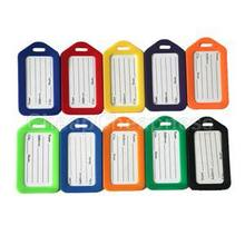 5Pcs/lot ID Tag Name Tag Label PVC Hot Travel Luggage Baggage Holder Suitcase PVC Luggage Tags Ramdom Color(China)