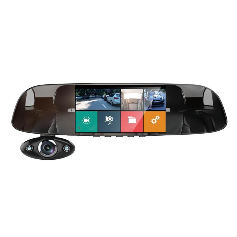 Anytek 5 1080P HD Curved Screen Car DVR Tachograph Dual Way 170 Degree Wide Angle Lens Video Recorder Parking Reversing Monitor new wide angle fresnel lens car parking reversing sticker useful enlarge view angle fresenl lens