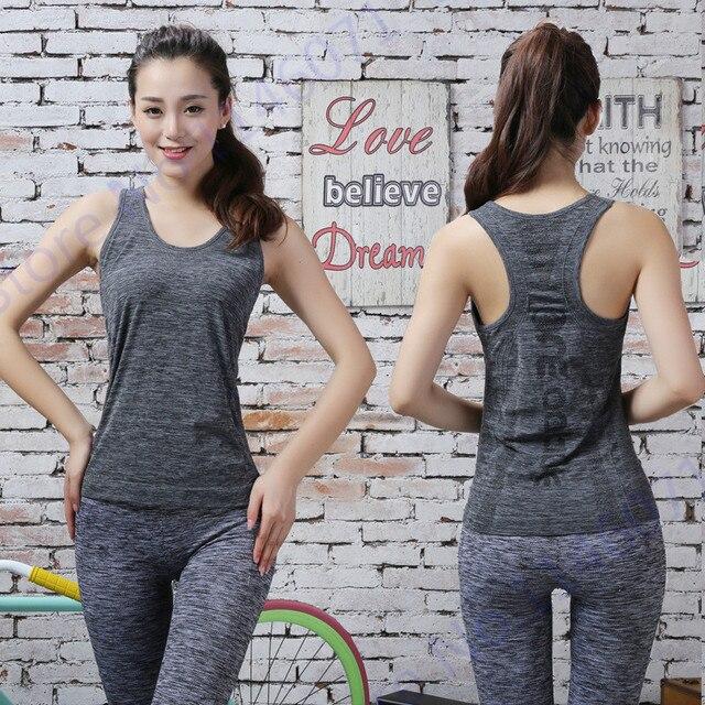 20a8eaaeb95ae High Elastic Black Running Fitness Shirts Sexy Sleeveless Fitness Gym Yoga T -Shirt Quick Dry Pink Athletic Tank Tops Women Vest