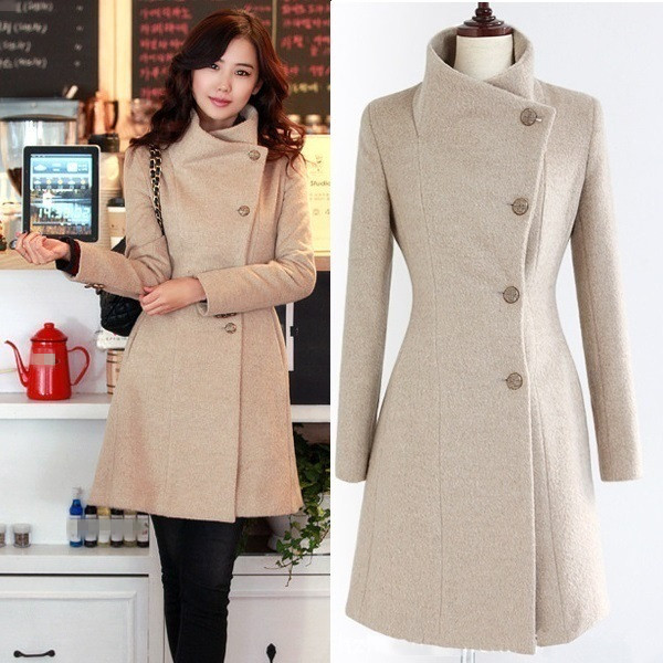 ec77ac7adf275 Cashmere Coat Female Autumn 2017 Korean Long Slim Cardigan Abrigos Mujer  Especially Women Winter Thick Warm Long Feminine Coat-in Wool   Blends from  Women s ...