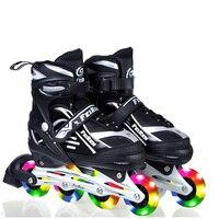Inline Professionnel Femmes Adulte Hommes Slalom Coulissantes Patins À Glace Patinage Chaussures Patines Réglable Lavable Tous Les Flash Roues Adulto