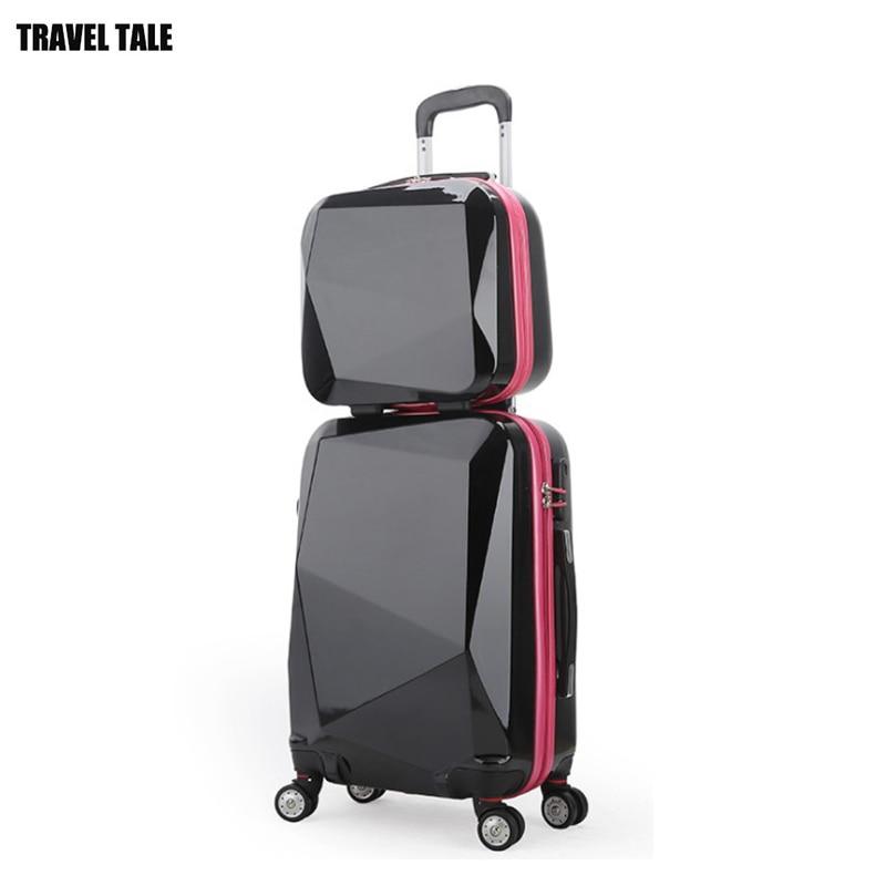 """REIZEN TALE 20 """"24"""" 28 """"spinner trolley Reistas koffer set abs bagage op wielen gratis verzending-in Bagage sets van Bagage & Tassen op  Groep 2"""