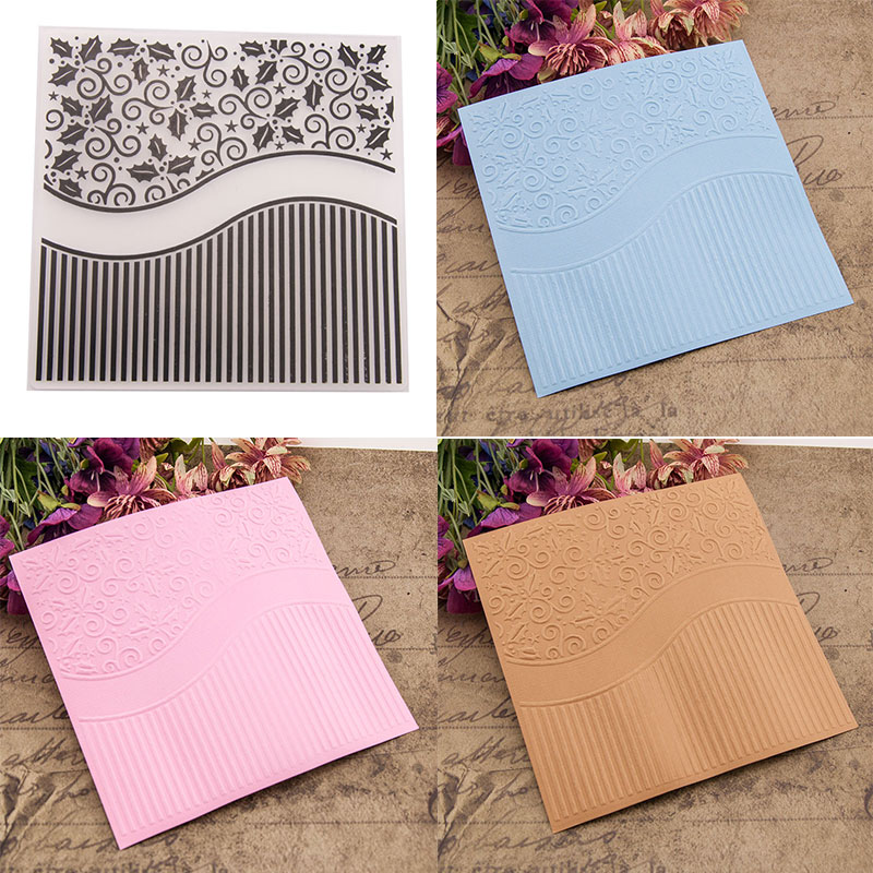 1 Christmas Embossing folders Plastic Embossing Folder For Scrapbooking card XS