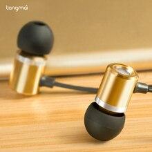 Tangmai металлические наушники для iPhone 6 5 4 для Xiaomi лучший в ухо стерео бас с плоский кабель микрофона Черный и белый