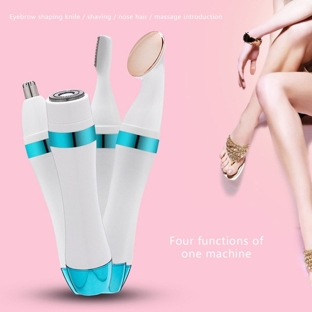 4in1 Electric Hair Trimmer Eyebrow Shaping Knife Multi-function Nose Repairer Hair Removal Machine Wet Dry Women Shaver Epilator 2