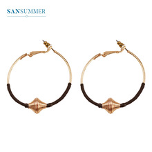 Sasnummer New Hot Fashion Golden Big Round Simple Classic Top Selling Punk Boho Earrings Women Jewelry