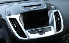 1 предмет салона навигации Управление Панель Кондиционер Выход декоративные Рамки Накладка для Ford Kuga 2017 стайлинга автомобилей