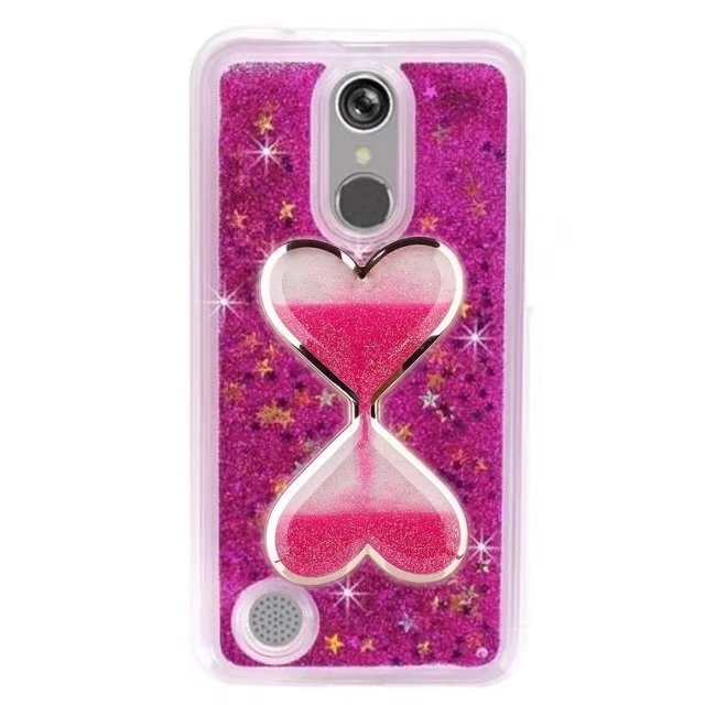 more photos 9f08d aec8c US $7.98 |Luxury Hearts/Wine glass Bling Hybrid Liquid Glitter Rubber TPU  Protective Case For LG Aristo LV3 MS210/Phoenix 3/Fortune-in Fitted Cases  ...