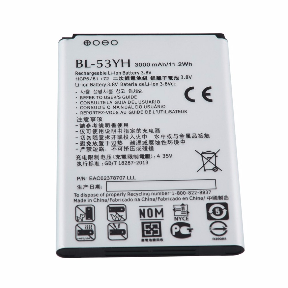 Durable Safe Long Standby 3000mAh/11.2wh BL-53YH Cell Phone Li-ion Battery For LG G3 G 3 VS985 F400 D850 D855 D830