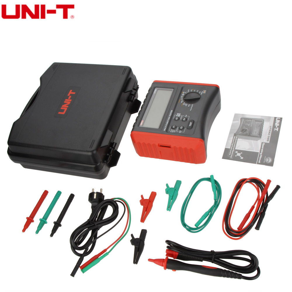 UNI-T UT595 Multifunctional Electrical Safety Tester RCD Loop Circuit / Line Impedance Insulation Resistance Meter 0.05~1000Mohm uni t ut595 electrical integrated tester digital multifunction electrical safety integrated test instrument