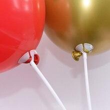 10pcs 30cm Latex Balloon Stick Tray White PVC Tube Balloons Holder for Wedding Birthday Party DIY Decoration Ballons Accessories