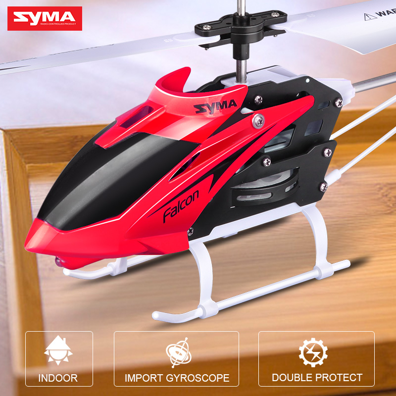 Syma Official 2 Channel RC Helicopter Indoor Toy with Gyro RC Aircraft Remote Control Helicopter Toys for Children global drone 2ch remote control spaceman helicopter induction aircraft toy helicopter drone indoor children gift toys