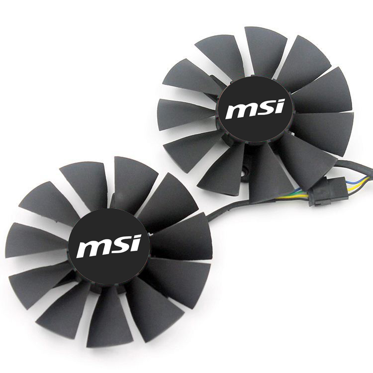 New Original MSI Graphics Card Fan For ASUS STRIX GTX 960 750TI R9 285 FD7010H12S T128010SH