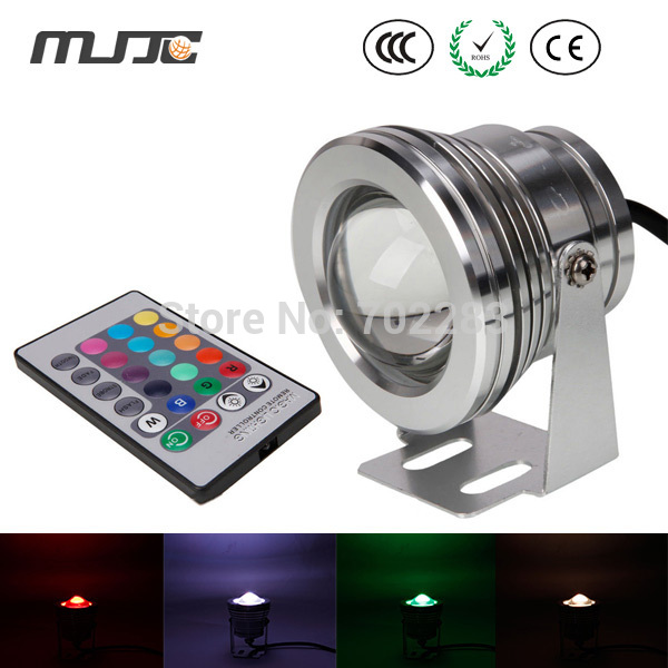 10W RGB Underwater Light LED Remote Control Spot Light Lamp Waterproof IP68 12V Fountain Lights for Pools Garden