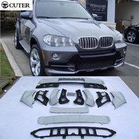 X5 E70 PP Auto Car Body Kits front lip rear diffuser For BMW E70 X5 07 11