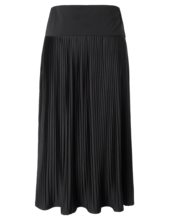 6419371643b Chicwe Women s Plus Size Stretch A-Line Skirt Large Size Big Size Knit High  Waist Pleated Flare Skirt Calf Length Black 1X-4X