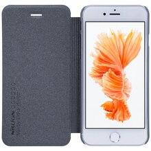 Nilkin для iPhone 7 чехол Nillkin Sparkle искусственная кожа флип чехол для пластиковых Вернуться телефон сумка для Apple iPhone 7 4.7 дюйма + розничная коробка