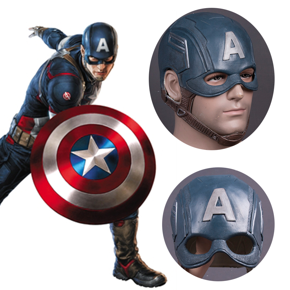 Captain America Civil War Helmet Mask Latex Cosplay Steven Rogers Halloween Helmet For Collection Party