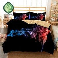 HELENGILI 3D Bedding Set Parrot Print Duvet cover set lifelike bedclothes with pillowcase bed set home Textiles #2 01