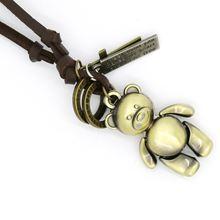 Ожерелье с медведем для мужчин и женщин модное регулируемое