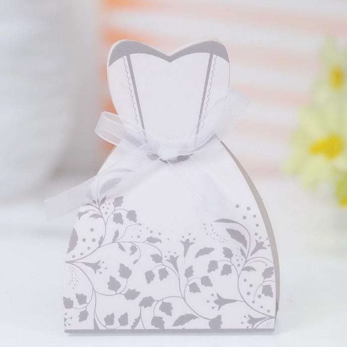 Bride Dress Groom Tuxedo Party Favor Boxes Template For Wedding