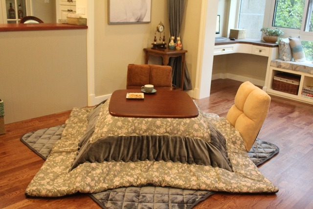 (2 sztuk/zestaw) kotatsu Futon pocieszyciel i dywan dla podgrzewany stół plac japoński Kotatsu Futon zestaw górny i dolny kołdra