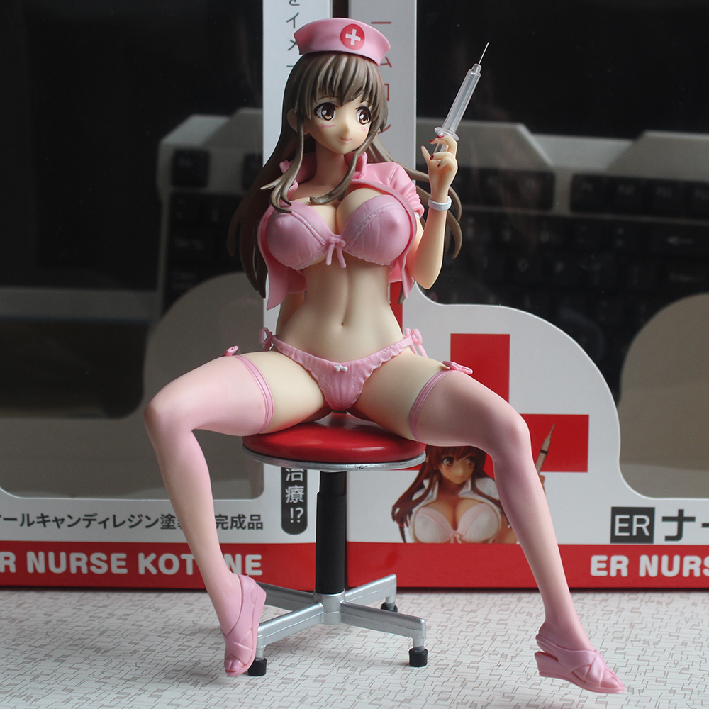 22CM Japanese Anime ER Nurse Kotone 1/6 Scale Sexy Girls PVC Figure Collectible Model Toys