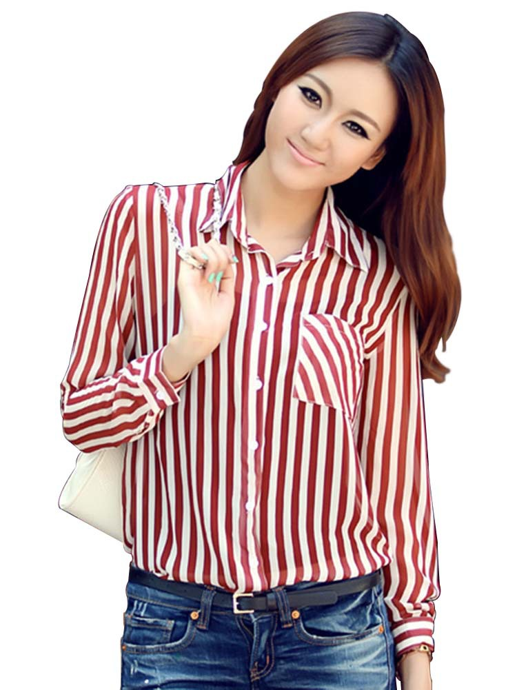 Ladies long sleeve shirts custom shirt for T shirt drop shipping companies